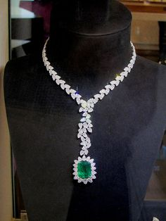 Diamond and Emerald Necklace