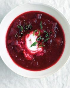 Perhaps the most gorgeous soup of them all...roasted beet and potato borscht