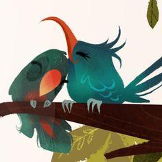 Impresión de pájaro rama por britsketch en Etsy                                                                                                                                                                                 Más