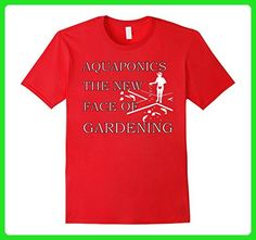 Mens Aquaponics T shirt - Cycle Planting Growing Organic Food XL Red - Food and drink shirts (*Amazon Partner-Link)