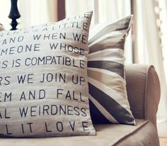 DIY Idea: Graphic Stencil Pillow Wit & Whistle