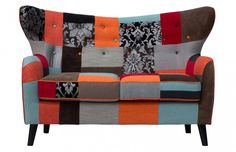 The Woodstock Upcycled Patchwork Two Seater Sofa uses excess fabrics that are then sewn together in a patchwork to create an amazing array of colours and textures. Upcycled Furniture, Home Furniture, Modern Furniture, 2 Seater Sofa, Best Sofa, Modern Sofa, Mid Century Design, Sofa Design, Woodstock