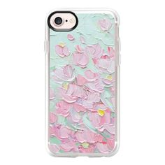 Spring Cherry Blossoms - iPhone 7 Case And Cover ($40) ❤ liked on Polyvore featuring accessories, tech accessories, phone cases, cases, phone, celular, iphone case, clear iphone case, iphone cases and apple iphone case #Iphone