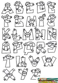 illustratorenfuerfluechtlinge Haz clic en la imagen. Sylvia Trenker paracoloreardibujos Haz clic en la imagen. ... Hand Lettering Alphabet, Doodle Lettering, Creative Lettering, Calligraphy Alphabet, Block Lettering, Alphabet Templates, Alphabet Design, Alphabet Art, Lettering Tutorial