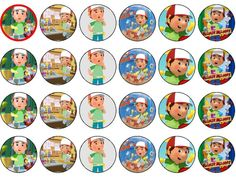 24 x HANDY MANNY EDIBLE RICE PAPER CAKE TOPPERS in Crafts, Cake Decorating | eBay