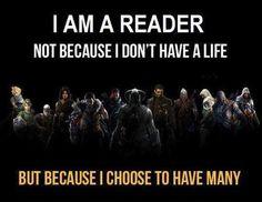 I am a reader...