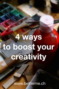 This article will give you 4 techniques to improve your creativity, realize your projects and solve your problems!  www.betterme.ch