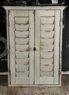 Chalkboard Cabinet with Shutters 24 x 18in