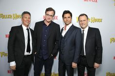 As if the reunion of the original Full House cast isn't emotional enough, get your hankie ready: The men of Fuller House have dedicated their first episode on Netflix to their mothers. Full House leading men Bob Saget, John Stamos, and Dave… Full House Cast, John Stamos, Fuller House, Photo Galleries, It Cast, Rompers, Mom, Celebrities, Pictures