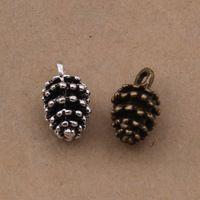 Wholesale 15x9mm Zinc Antique Bronze Alloy / Pineapple Silver Antique Jewelry Pendant DIY Manual 50 Units / Lot