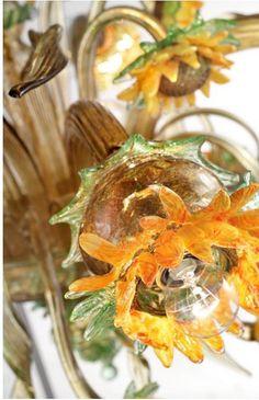 Fiore girasole, ricambio per lampadari in vetro soffiato di Murano, by Muranospareparts, 118,00 € su misshobby.com