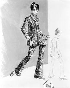 William Travilla - Costumes - Esquisses et Croquis - Judy Garland - La Vallée des Poupées - 1967