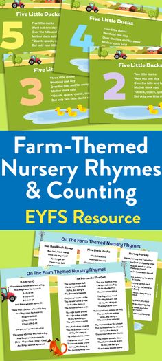 Farm-Themed Nursery Rhymes: Literacy and Counting Set