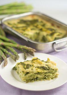 #Vegan Lasagna with Asparagus and Arugula minty Pesto