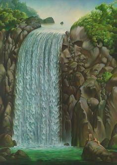 Love Talk by Vladimir Kush 42 x Original The Longworth Gallery Optical Illusion Paintings, Optical Illusions, Surreal Artwork, Beautiful Fantasy Art, Illusion Art, Fantasy Landscape, Love Art, Art Photography, Illustrations