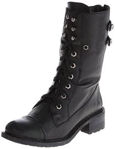 boots: Sam Edelman Women's Darwin Combat Boot, Black, 9 M US Sam Edelman Boots, Cool Boots, Darwin, Fashion Boots, Black Boots, Combat Boots, Kitten Heels, Black Leather, My Style