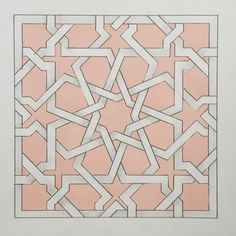 My 5 year old cousin says there's lots of mistakes in this and that her colouring in is better. Sacred Geometry Patterns, Islamic Patterns, Tile Patterns, Zentangle, Arabesque, Design Oriental, Arabic Pattern, Persian Motifs, Stained Glass Flowers