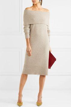 J.Crew | Lana off-the-shoulder knitted midi dress