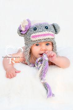 Sock Monkey Crochet Hat