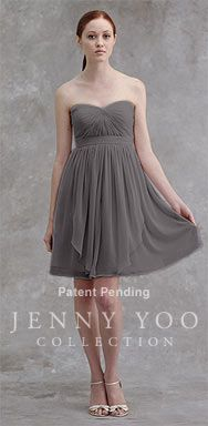 Jenny Yoo Collection | Keira Luxe Chiffon - 4 Alt. versions of skirt and neckline also available for the bridesmaids