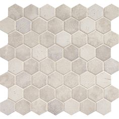 Buy the Daltile Wisdom White Direct. Shop for the Daltile Wisdom White Vintage Hex Inch Hexagonal Wall & Floor Mosaic Tile - Semi-Gloss Limestone Visual - SAMPLE ONLY and save. Hexagon Tiles, Hexagon Shape, Mosaic Tiles, Dal Tile, Thing 1, Commercial Flooring, Mosaic Glass, Natural Stones, Tile Floor