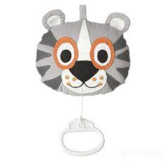 Spieluhr Tiger Spielzeug grau