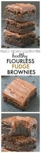 Healthy Flourless Chocolate Fudge Brownies- Just THREE ingredients in the base a., Desserts, Healthy Flourless Chocolate Fudge Brownies- Just THREE ingredients in the base and a healthy fudge frosting- Absolutely NO butter, oil, flour or sugar. Vegan Sweets, Healthy Baking, Healthy Desserts, Delicious Desserts, Yummy Food, Gluten Free Baking, Gluten Free Desserts, Paleo Dessert, Dessert Recipes