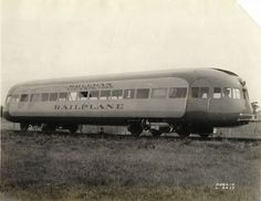 Railplane passenger car portrait taken for the Pullman Company