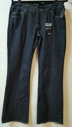 3502b5fb803 a.n.a. Dark Blue Jeans Siz 12 Modern Fit Boot Cut Low Rise 31 X 32