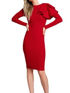 Lady In Red #fashion #winter #dress #red #lady