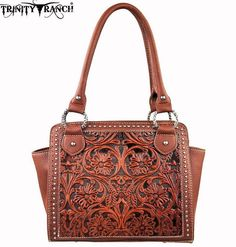 Trinity Ranch® Tooled Leather Purse~Brown Western Montana West Handbag #MontanaWest #ShoulderBag