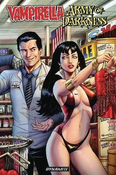DEAL OF THE DAY Vampirella Army Of Darkness TPB - $11.99 Retail Price: $14.99 You Save: $3.00 Horror icons from two universes collide as Ash Williams, the chainsaw-armed Chosen One of the small and big screen, crosses paths with the supernatural superheroine Vampirella in a story set during the events of the cult classic film, Army of Darkness!   TO BUY CLICK ON LINK BELOW http://tomatovisiontv.wix.com/tomatovision2#!comics/cfvg