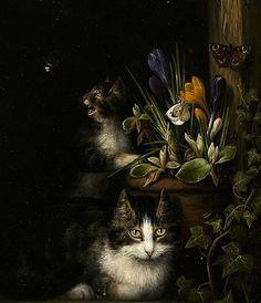 Henriette Ronner-Knip. Cat and Kitten 1838