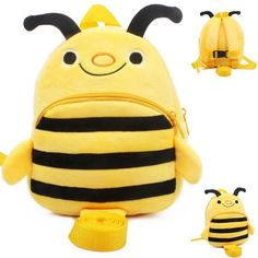 Cute cartoon bee harnesses backpacks
