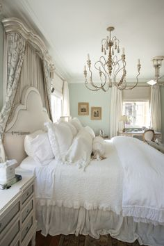 View our best bedroom decorating ideas for master bedrooms, guest bedrooms, kids' rooms, and more. These designs for beautiful bedrooms are inspiring, and they'll have your home upgraded in a snap. Shabby Chic Bedrooms, Cozy Bedroom, Dream Bedroom, Bedroom Decor, Bedroom Ideas, French Country Bedrooms, French Country Decorating, Home Interior, Interior Design