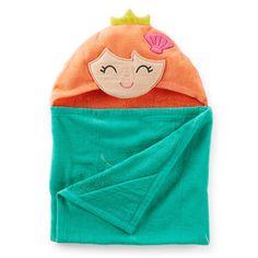 Carter's Mermaid Hooded Towel for Bath/beach (OneSize, Teal)