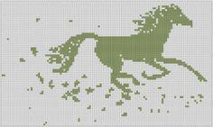 Horse Cross Stitch Patterns | Free Running Horse 2 Cross Stitch Pattern