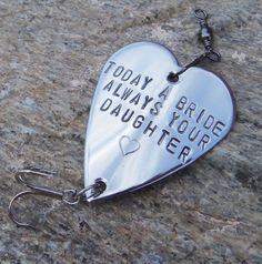 Today a Bride Always Your Daughter by CandTCustomLures on Etsy, $23.00