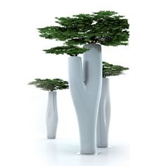 cool little trees  Jean-Marie Massaud Missed Tree Flower Pot-This unique vase is nearly 4 feet tall!
