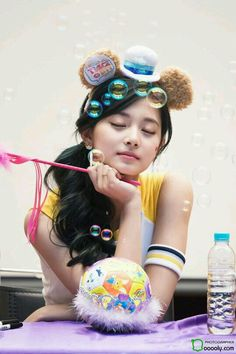 Tzuyu with bubbles