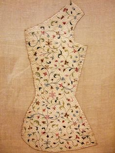 Embroidered waistcoat panel, V and A museum, London.