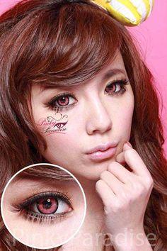 cloud nine pink contact lenses