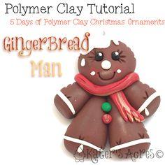 Polymer Clay Christmas Ornament Tutorial – GingerBread Man