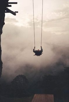 There's a swing on the edge of a cliff in Ecuador. It has no safety measures and is called the 'Swing at the End of the World'