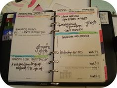 color coded planner! perfect for dominant left brainers!