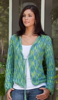 The Rainforest Cardigan in Sea Song