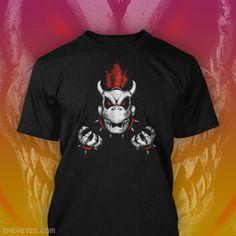 #Nintendo: Dry #Bowser t-shirt. Video Game T Shirts, Bad To The Bone, Bowser, Mario, Nintendo, Mens Tops, Fashion, Moda, Fashion Styles