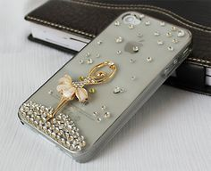 Bling iphone 4 case,iphone 4s cases,  iphone cases 4,crystal iphone 4 cases,with dancing girl, custom order for HTC ,Samsung cases. $19.99, via Etsy.