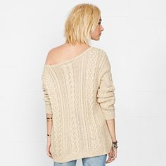 RALPH LAUREN - Cable-Knit Boatneck Sweater. Price: 115 euros. Yarn: 78% Cotton, 22% Acrylic