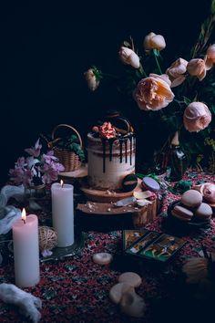 Vanilal bean cake with swiss meringue buttercream and chocolate glaze…